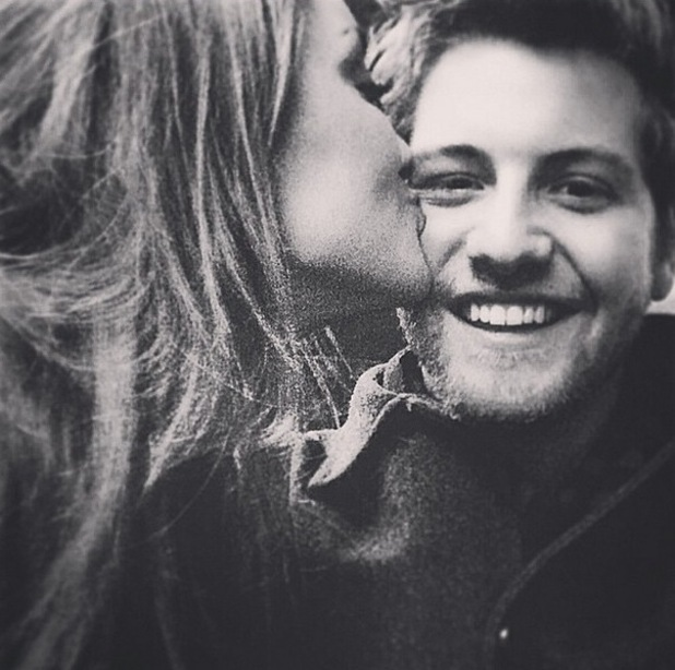 MIC's Stevie Johnson kisses girlfriend Cressida - 3 February 2015.