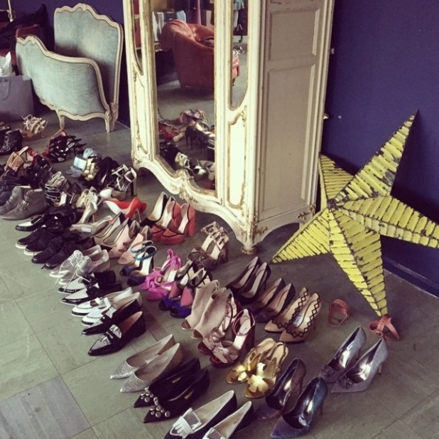 Photo of shoes from Laura Whitmore's photoshoot