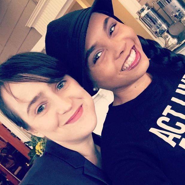 Matilda stars Mara Wilson and Kiami Davael reunite for lunch date - 8 February 2015.