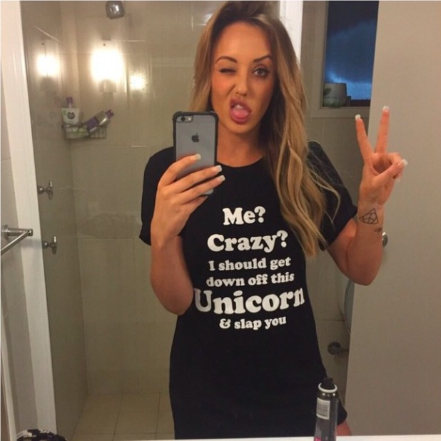 Charlotte Crosby shows off new clothing range, 15 February 2015