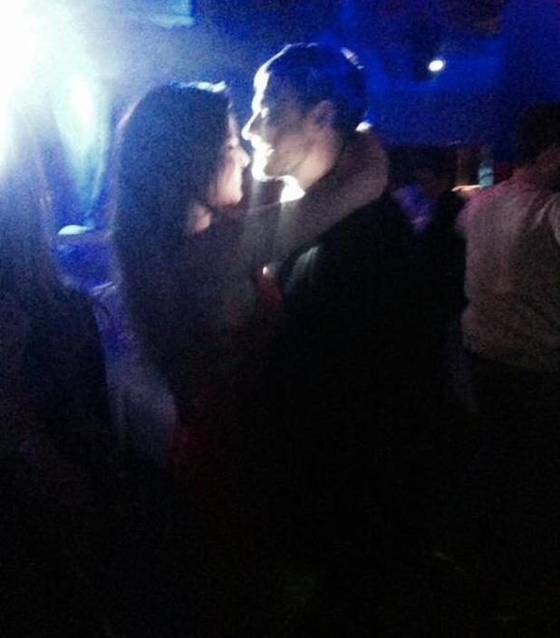 TOWIE's Jessica Wright dances with mystery man in Tenerife - 12 February 2015.