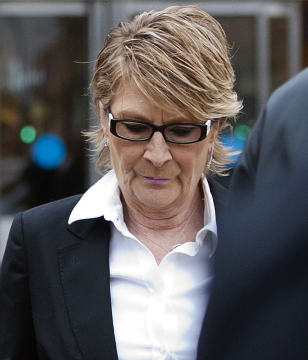 Linda Henry charged with racially-aggravated harassment, Bexley Magistrates court, London, Britain - 11 Feb 2015