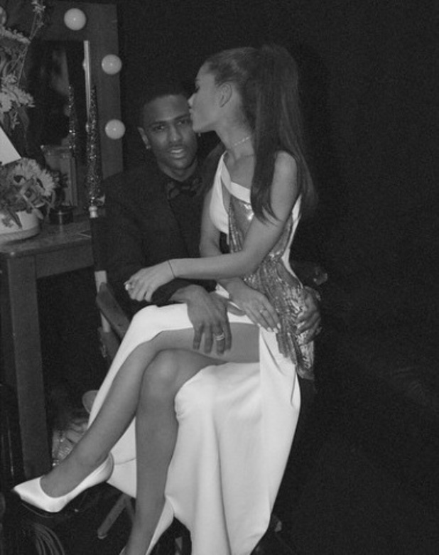 Big Sean and Ariana Grande at The 57th Annual Grammy Awards arrivals 02/09/2015 Los Angeles, United States.