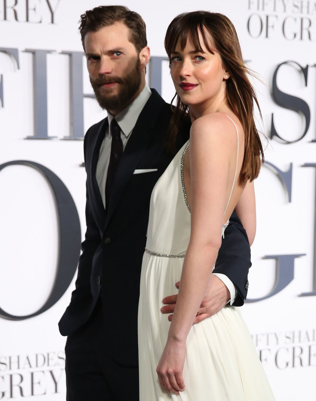 Jamie Dornan and Dakota Johnson at Fifty Shades of Grey' UK premiere at the Odeon Leicester Square - 12 Feb 2015