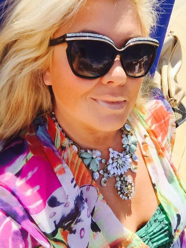 TOWIE's Gemma Collins thanks Harry Derbidge for her holiday bling - 15 Feb 2015