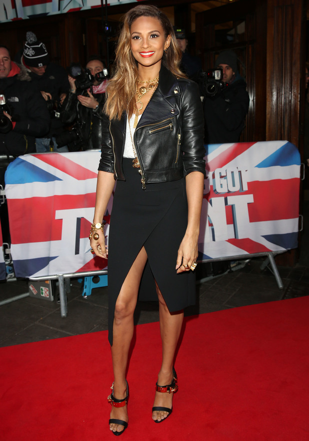 Alesha Dixon arrives for Britain's Got Talent auditions in London 11 February