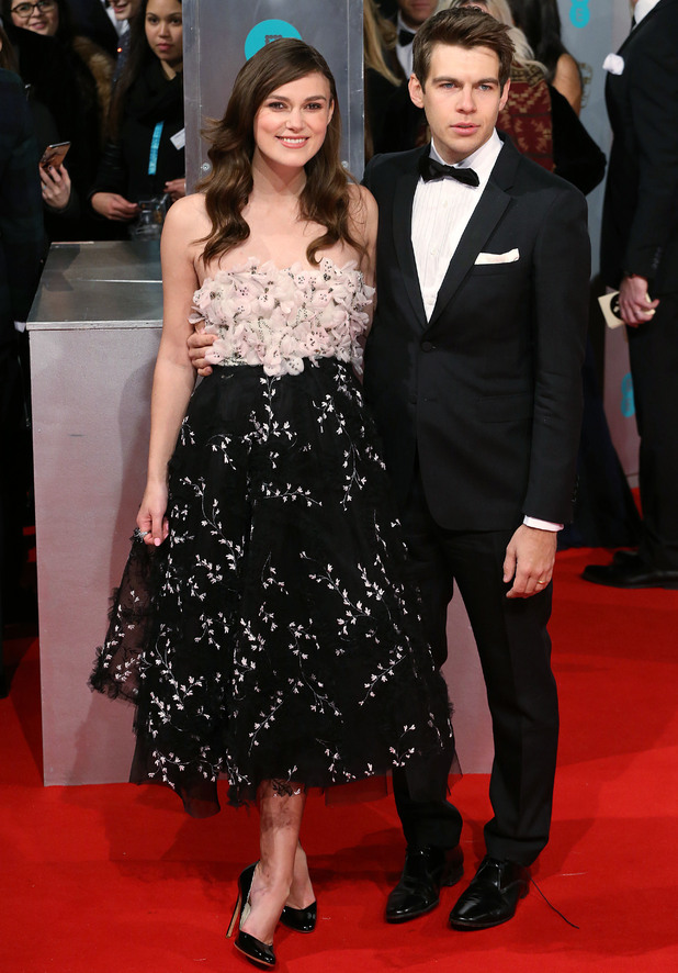 Keira Knightley and James Righton attend the BAFTAs, Royal Opera House, Covent Garden, London 8 February