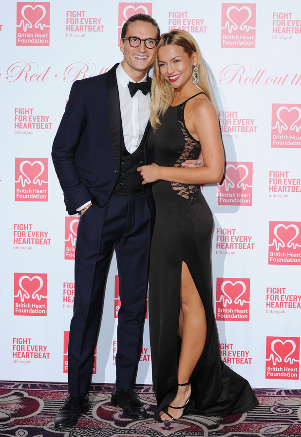 Oliver Proudlock and Emma Connolly attend the British Heart Foundation's Roll Out The Red Ball at Park Lane Hotel on February 10, 2015 in London, England.