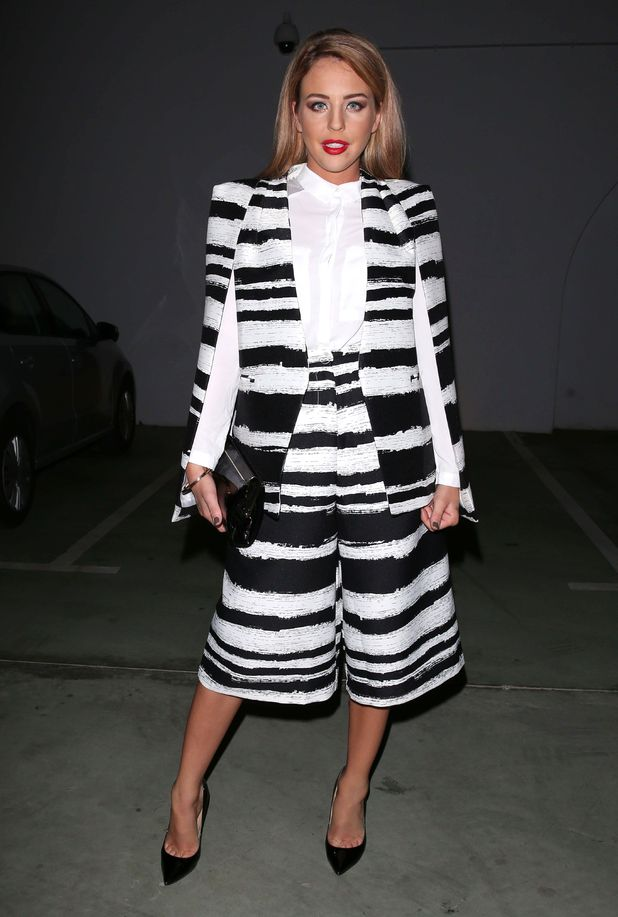 TOWIE's Lydia Bright steps out in on-trend statement stripes