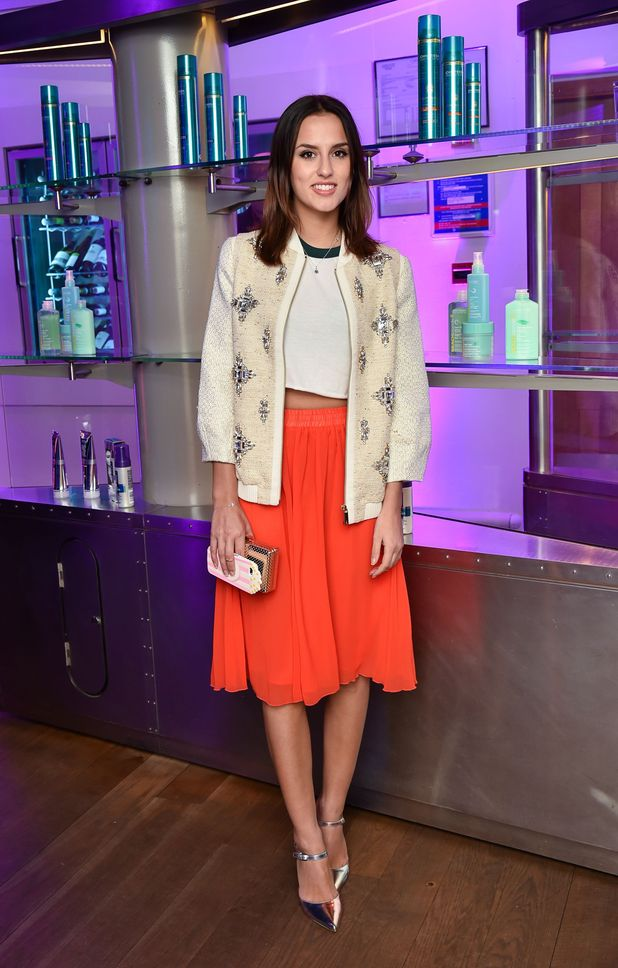 Made In Chelsea star Lucy Watson showing off her chic style at John Freda event