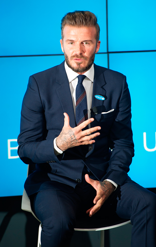 David Beckham launches his 7 initiative with UNICEF, 9 February 2015