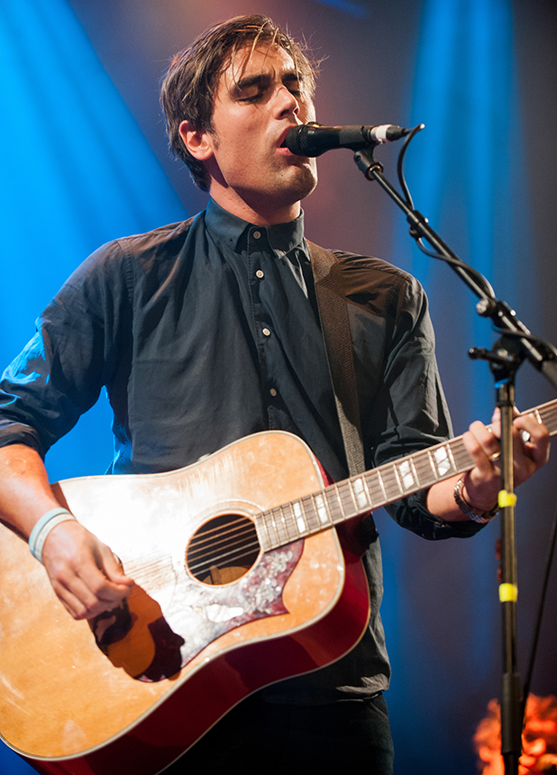 Charlie Simpson performs on stage at Islington Assembly Hall on February 10, 2015 in London, United Kingdom