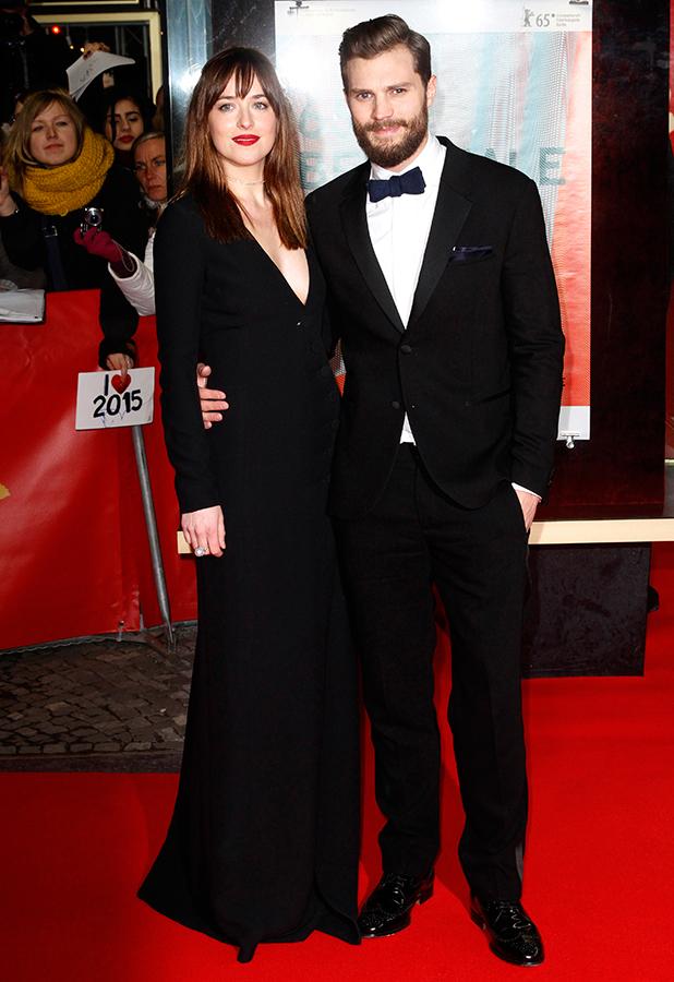 Dakota Johnson and Jamie Dornan at 65th Berlin Film Festival (Berlinale) - 'Fifty Shades of Grey' premiere, 11 February 2015