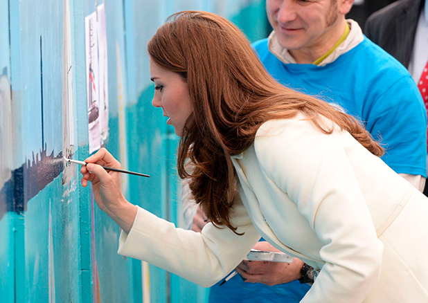 Catherine Duchess of Cambridge visits the home of Ben Ainslie Racing and the 1851 Trust, Portsmouth, Britain - 12 Feb 2015