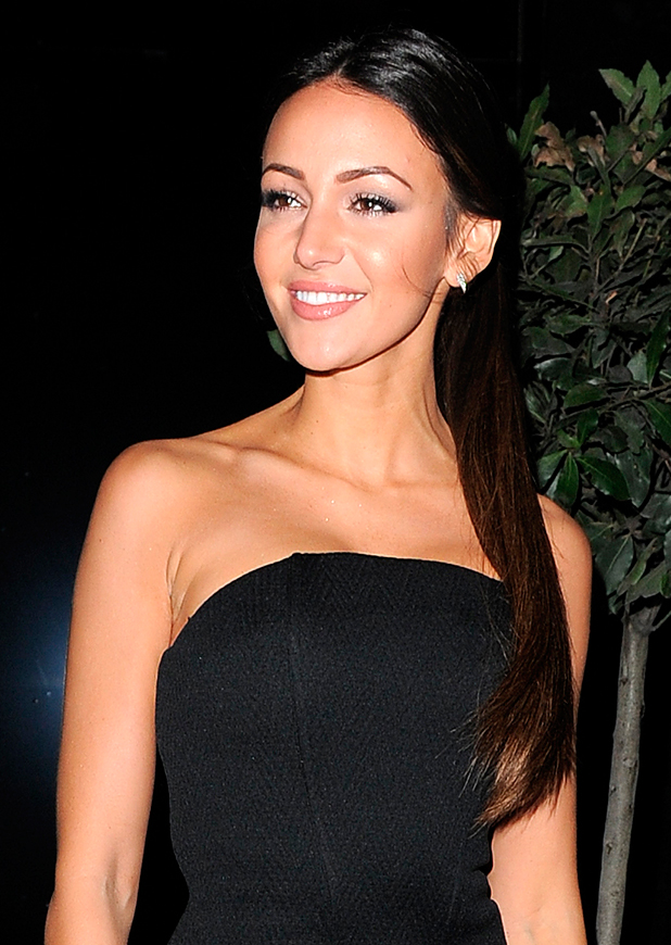 Michelle Keegan at British Heart Foundation Roll Out The Red Ball at Park Lane Hotel, 10 February 2015