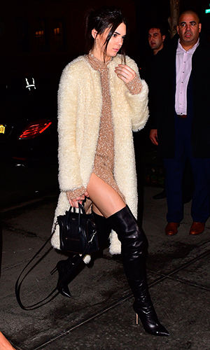 Kendall Jenner arrives to the Gramercy Park Hotel on February 10, 2015 in New York City.