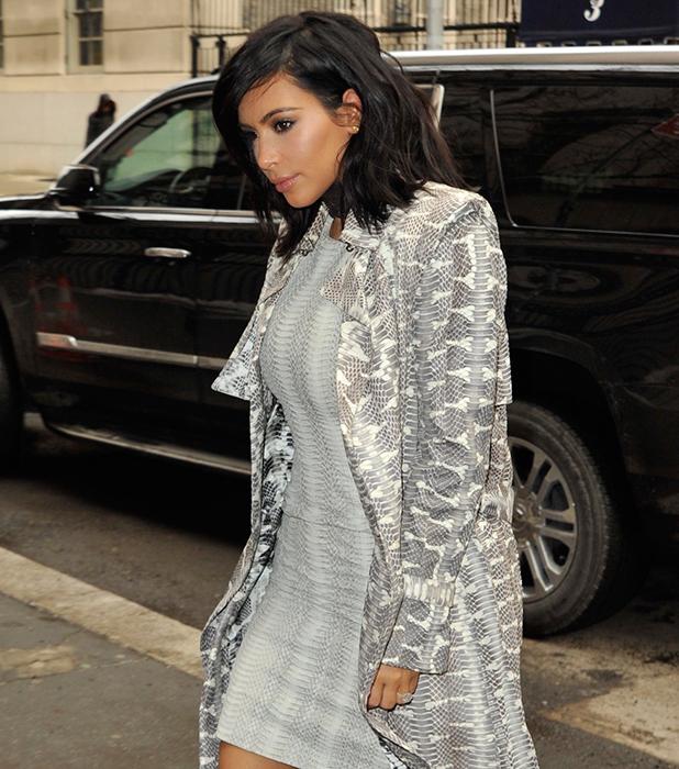 Kim Kardashian leaving her apartment in Manhattan, 10 February 2015