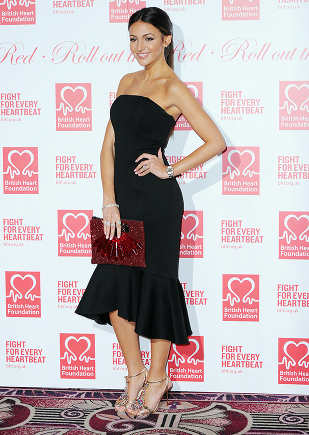 Michelle Keegan attends the British Heart Foundation's Roll Out The Red Ball at Park Lane Hotel on February 10, 2015 in London, England.