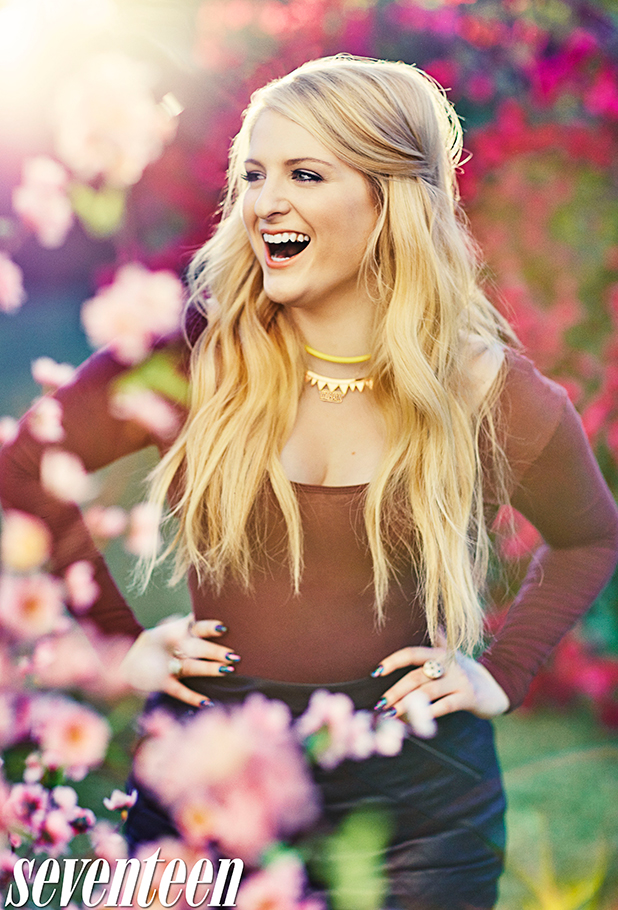 Meghan Trainor is the cover star of Seventeen's March issue, on sale 17 February 2015