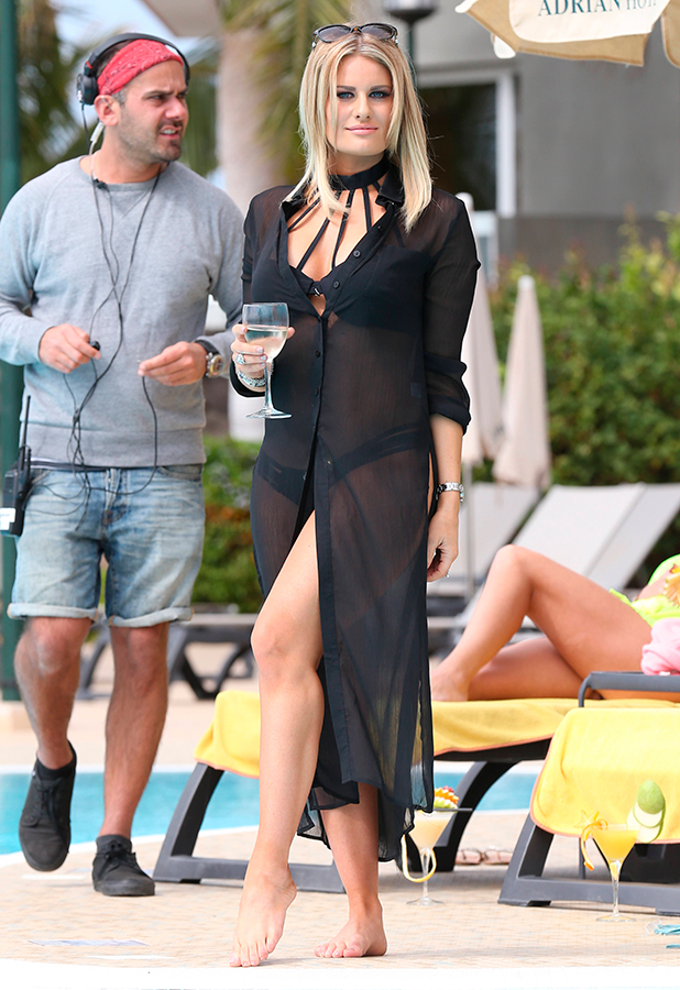 The Only Way is Essex' Cast in Tenerife, Spain - 10 Feb 2015 Danielle Armstrong