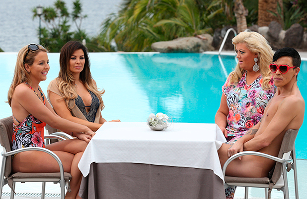 'The Only Way is Essex' Cast in Tenerife, Spain - 10 Feb 2015 Lydia Bright, Jessica Wright, Gemma Collins and Bobby Norris 10 Feb 2015