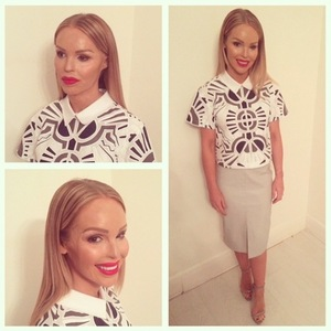 Katie Piper shares backstage photos after Fashion For Relief - 19 February 2015