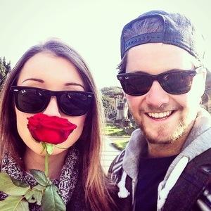 Stevie Johnson and girlfriend Cressida Stewart after Valentine's Day 15 February