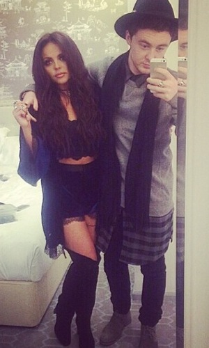 Jesy Nelson and boyfriend Jake Roche dine out for Valentine's Day - 14 February 2015.
