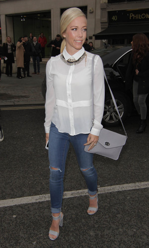 Kendra Wilkinson at London Fashion Week AW15 for the Jamie Wei Huang show. 20/2/2015.
