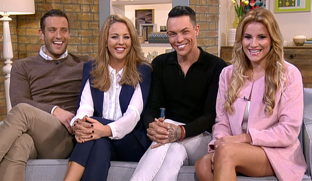 TOWIE's Lydia Bright, Bobby Norris, Elliott Wright and Georgia Kousoulou appear on This Morning - 16 Feb 2015