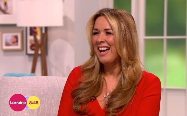 Claire Sweeney on Lorraine, ITV 17 February