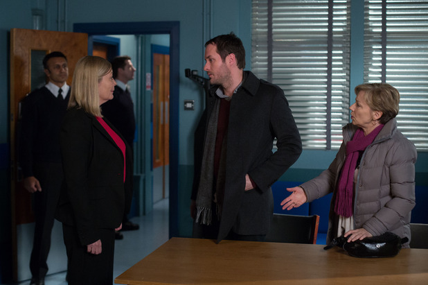 EastEnders, Charlie and Carol make a statement, Mon 23 Feb