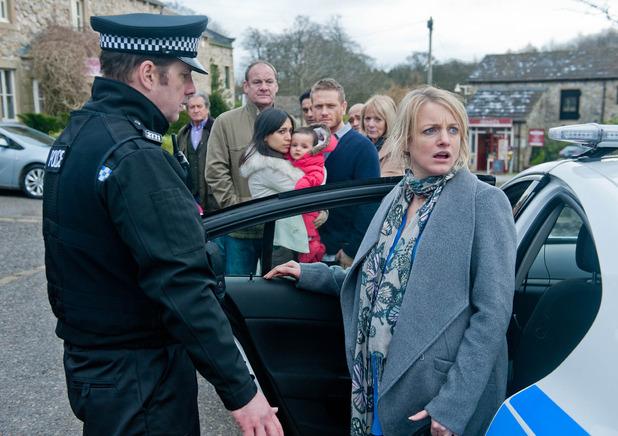 Emmerdale, Nicola arrested, Tue 24 Feb