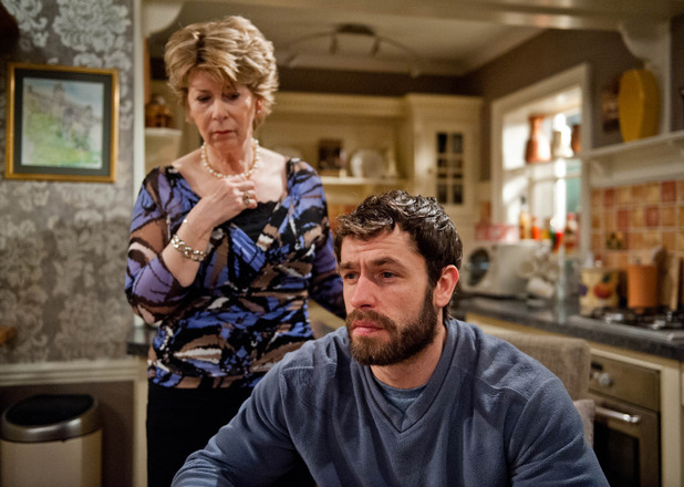 Emmerdale, Andy refuses to go to Katie's funeral, Wed 18 Feb