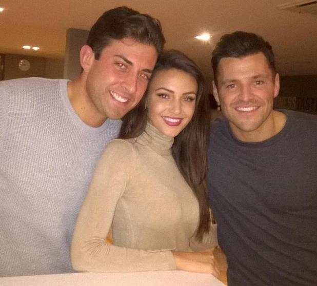 Mark Wright and Michelle Keegan join James 'Arg' Argent for dinner - 15 Feb 2015