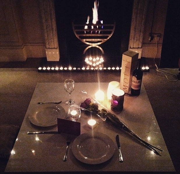 Stevie Johnson shares picture of his Valentine's Day dinner 14 February