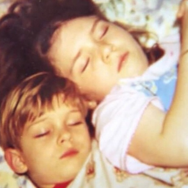 Frankie Essex shares cute throwback of herself and brother Joey as children - 17 Feb 2015