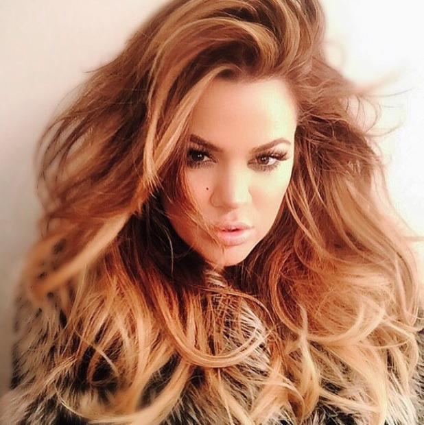 Khloe Kardashian shows off the most lust-after, big hair ever, thanks to hairdresser Lorenzo Martin, 18 February 2015