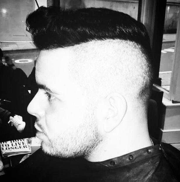 Paul Akister gets hair cut for X Factor Live Tour, Instagram 19 February