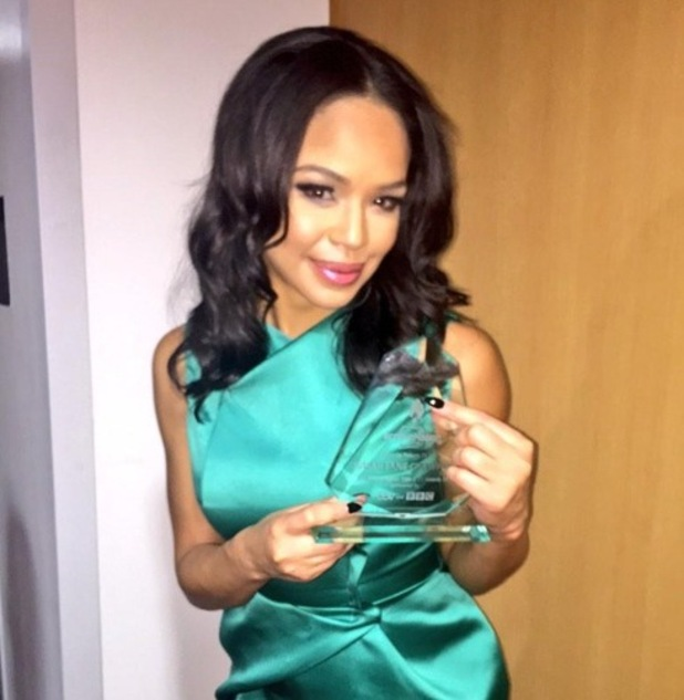 Sarah-Jane Crawford wins 'Favourite Female TV Star'  Screen Nation Film and Television Awards held at Hilton London Metropole 15 February