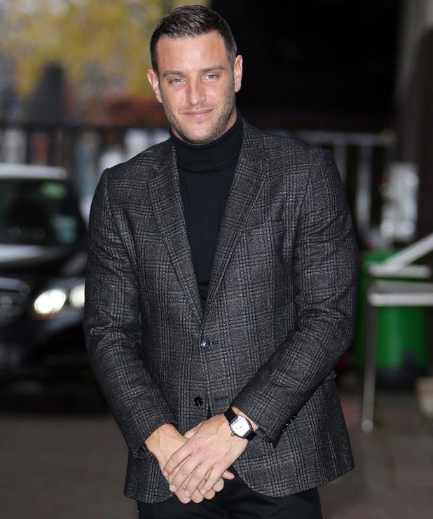 Elliott Wright poses outside ITV Studios for This Morning - 16 Feb 2015