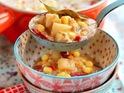 Shelina Permaloo's Mexican style Corn Chowder for Sainsbury's Love your freezer campaign