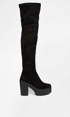 Black thigh high boots Asos £55
