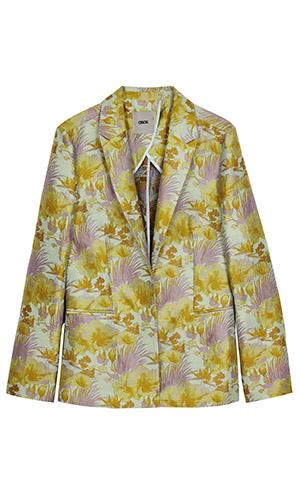 Cutout of Asos floral jacquard blazer