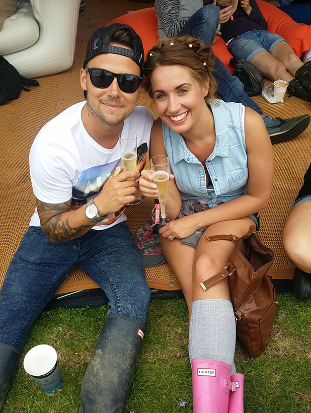 Chantelle Grace and her partner at Isle of Wight Festival