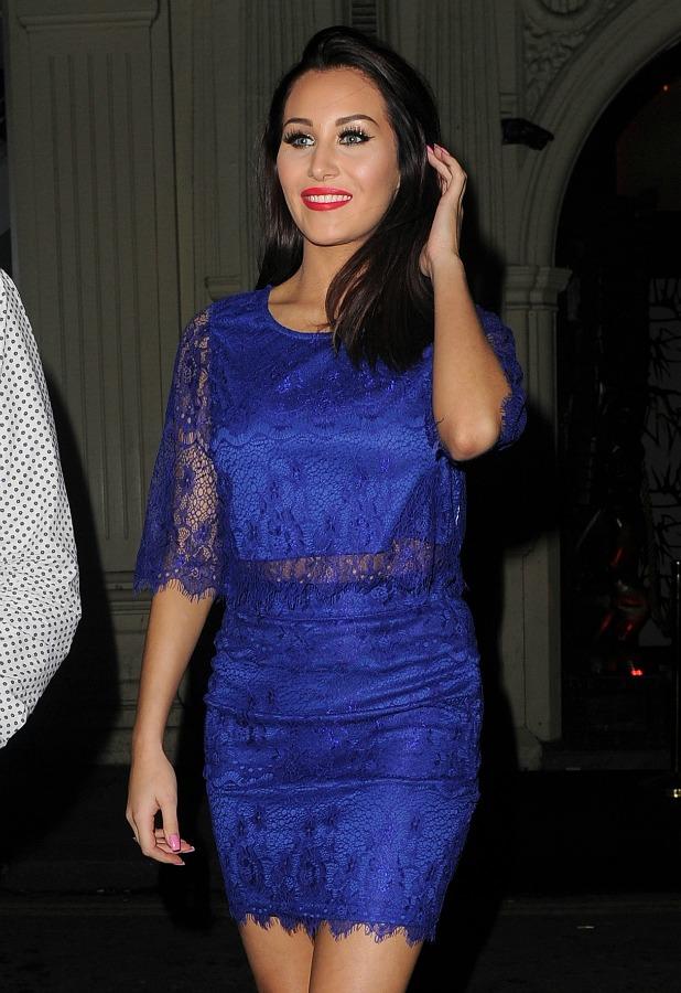 Chloe Goodman at Mahiki night club on February 17, 2015 in London, England.