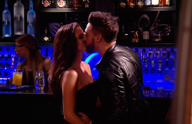 TOWIE series 14, episode 1: Mario Falcone kisses girlfriend Emma McVey. Publicity still. To air 22 February.