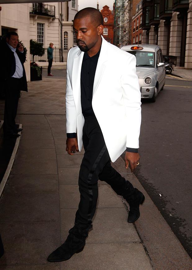 Kanye West at Autumn Winter 2015, London Fashion Week, Britain - 20 Feb 2015