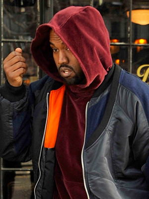 Kanye West leaving The Bowery Hotel, 2015