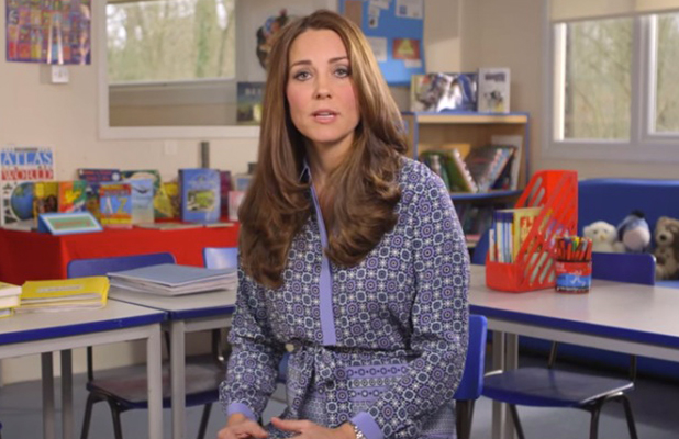 Kate Middleton records video message for Place2Be, 16 February 2015